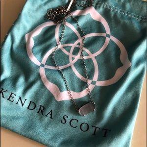 Kendra Scott necklace with smoky grey stone